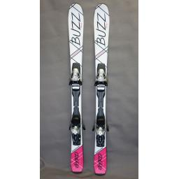 buzz-gyro-v3-pink-black-126cms-adult-short-skis-inc-tyrolia-bindings-sale-choose-bindings-ski-with-sr100-rental-biniding