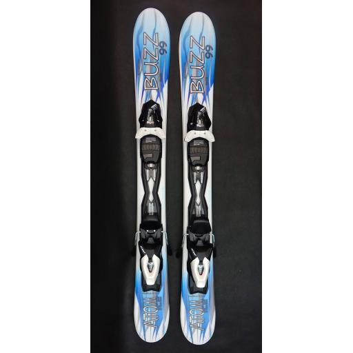 Buzz Atom ICE 99cms Ski blade Snow Ski with TYROLIA Release Bindings
