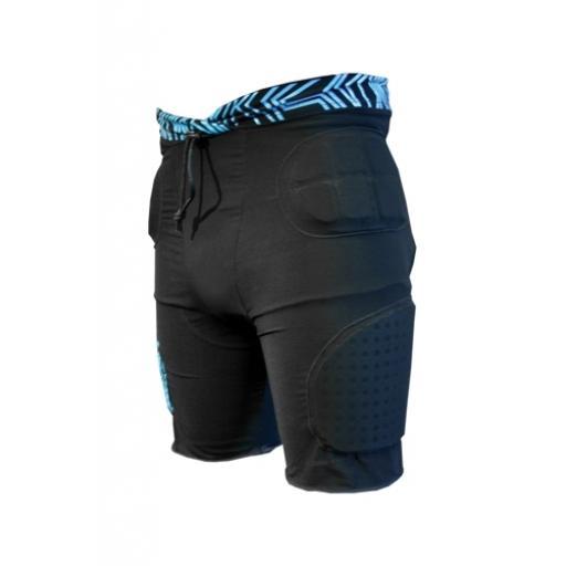 Demon Adult DS1300 blk/blue blk/red Snowboarding crash protective shorts (flexforce) size S-M-L-XL