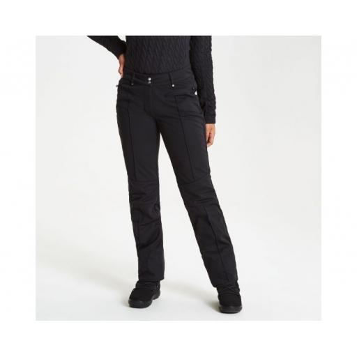 Womens DARE2B CLARITY BLACK Skinny Stretch Ski Pants SHORT LEG