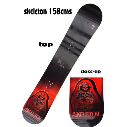 Pale SKELETON ALL MOUNTAIN SNOWBOARD 158cms RRP£295 NOW £119.99 SALE