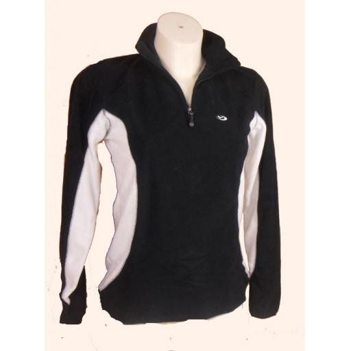 Womens FIVE SEASONS Mid layer Fleece top BLACK Sizes 8 only