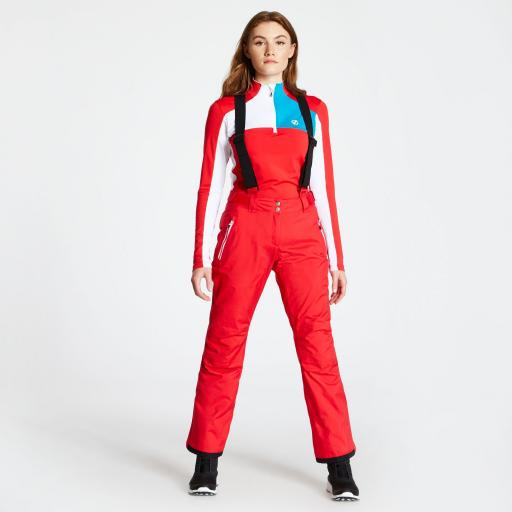 Dare2b EFFUSED Womens LOLLIPOP RED Stretch Ski Pants SHORT LEG