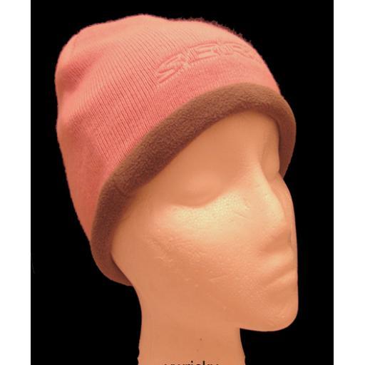 Ski Hat Acrylic/fleece Pink Grey mix