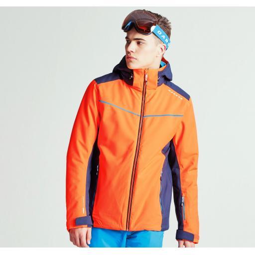 DARE2B VIGOUR Mens Ski Board Jacket VIBRANT ORANGE