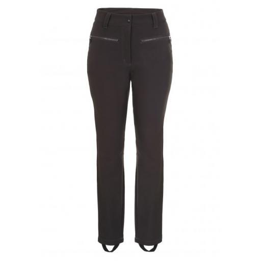 ICE PEAK Womens Enigma Stirrup Stretch Skinny Ski Pants Trousers Black