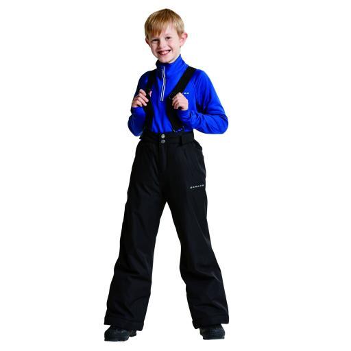 DARE 2B CHILDS BOYS WHIRLWIND II BLACK SKI PANTS SALOPETTES