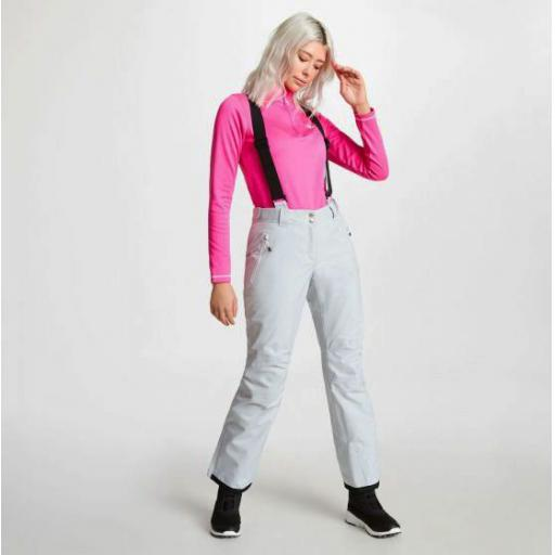 Dare2b EFFUSED Womens Argent Grey Soft -shell Ski Pants SHORT LEG