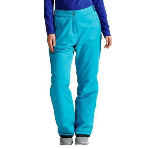 Dare2b ATTRACT II Womens Ski Pants Salopettes SEA BREEZE BLUE SHORT LEG