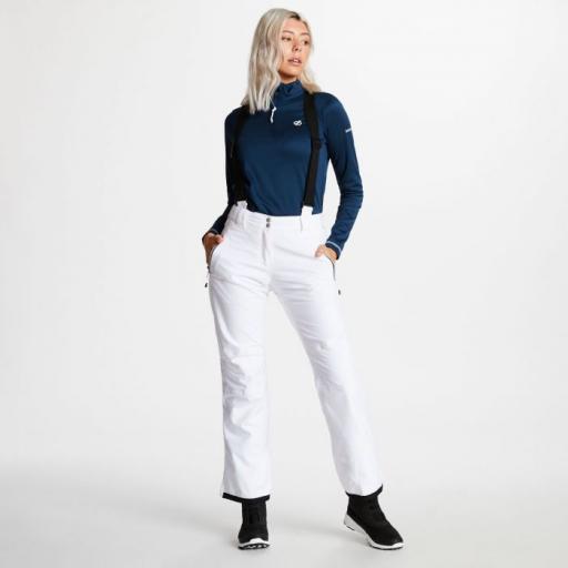 DARE2B EFFUSED Womens WHITE Stretch Ski Pants SHORT LEG