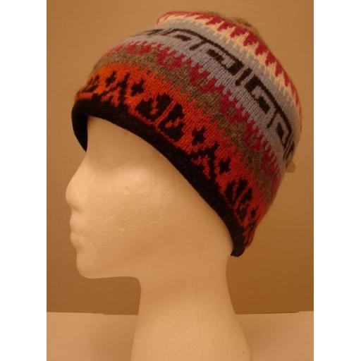 Multi pattern soft Beanie hat, double layer