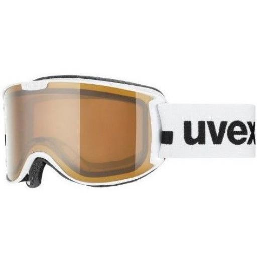 Uvex SKYPER P White Goggle - Double lens Ski Snowboard CAT S1