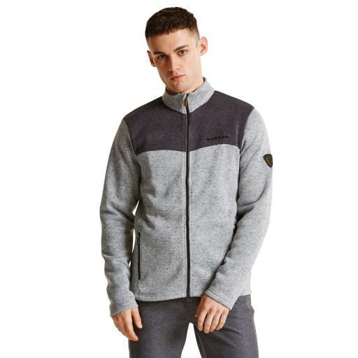 DARE2B Mens Sweater Bequeath Grey and Charcoal top Fleece