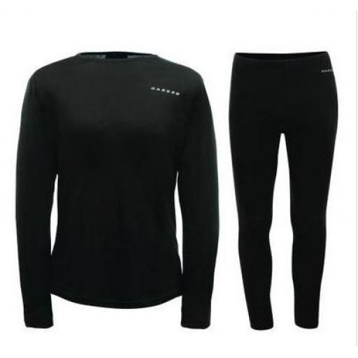Dare2b INSULATE Black MENS Thermal Base Layer Set (TOP & BOTTOMS)