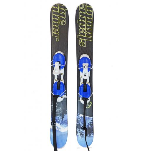 GPO SLEDGEHAMMER 91cm Ski Blade Board with non release Bindings