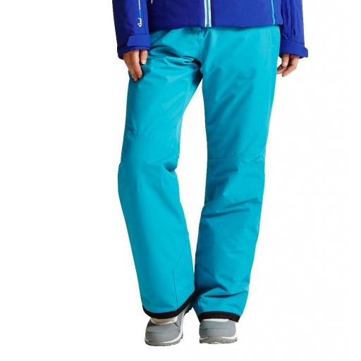 DARE2B Womens ATTRACT II Ski Pants Salopettes ENAMEL BLUE SHORT LEG