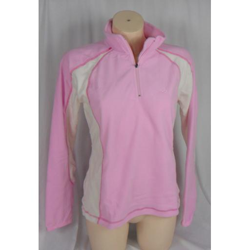 Womens FIVE SEASONS Mid layer Fleece top PINK Sizes 13/14 yrs and size 10