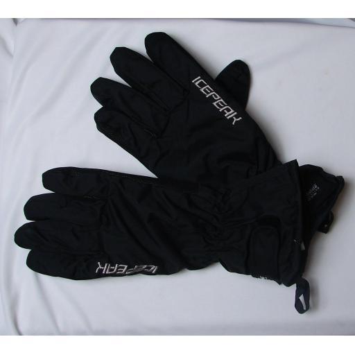 Ice Peak Mens Black SKI Gloves sizes Medium