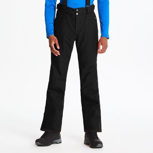 Mens Dare2b BLACK ACHIEVE Soft Shell Ski Salopettes Pants SHORT LEG