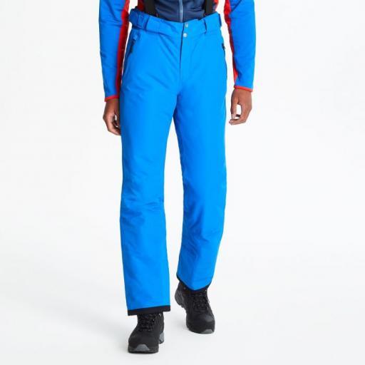 Mens Dare2b OXFORD BLUE ACHIEVE Soft Shell Ski Salopettes Pants SHORT LEG