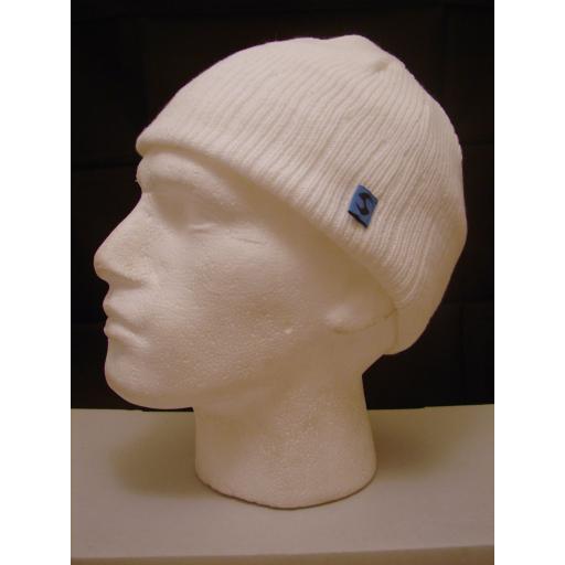 Ice Peak Winter White Beanie hat Warm and Soft Fleece Lined