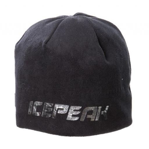 Black with silver pattern Beanie hat (1)