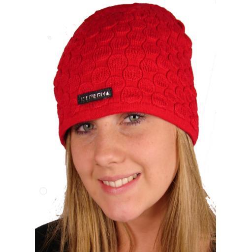 Ice Peak ski hat Acrylic/fleece mix Fleece Red