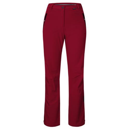 ICE PEAK DARK RED Womens RIKSU Stretch Ski Pants REG LEG