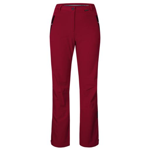 ICE PEAK DARK RED Womens RIKSU Stretch Ski Pants short leg