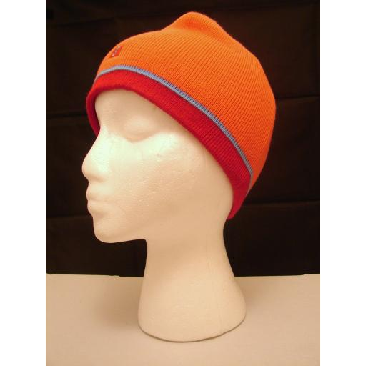 Burnt Orange HAT Warm and Soft Red 2 tone band Beanie