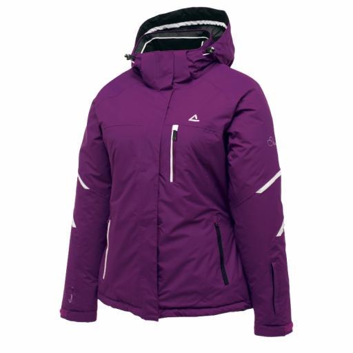 DARE2B Womens Vitalised Ski Jacket Purple Storm Size 6