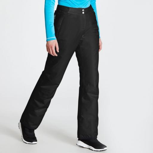 DARE2B Womens EXTORT BLACK Ski Pants Trousers Size 8 - 20 REG LEG