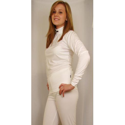 Womens Five Seasons SUPERWOMAN THermal base layer set WHITE SIZE 8 ONLY
