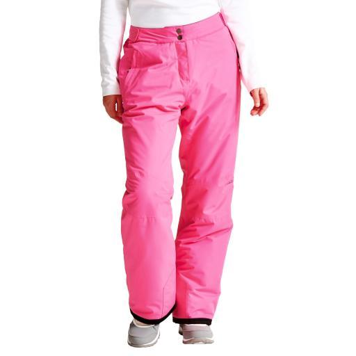 DARE2B Womens ATTRACT II Ski Pants Salopettes CYBER PINK SHORT LEG