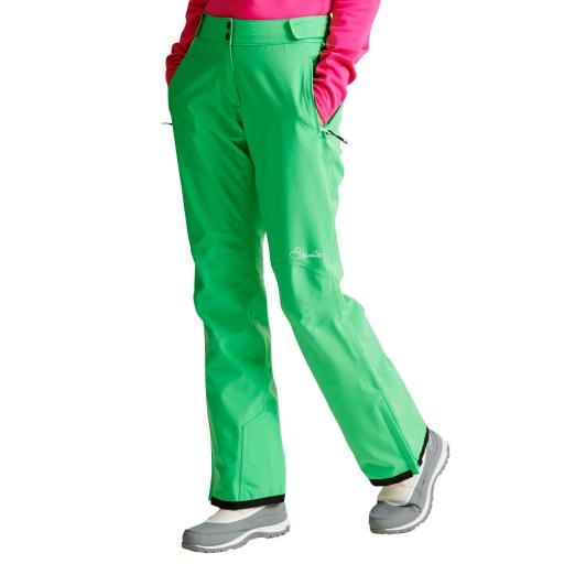 Womens DARE2B STAND II FOR ACID GREEN Stretch Ski Pants SHORT LEG