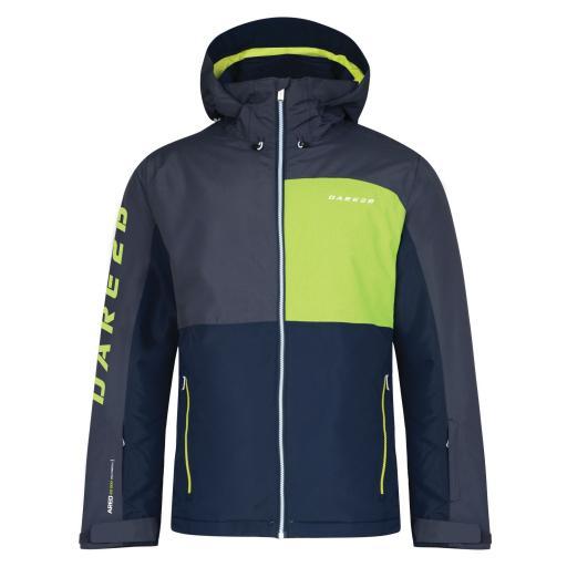 DARE2B EMBARGO Mens Ski Board Jacket EBONY/BLUE/LIME