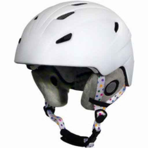"Manbi ""Park""Adult/teen Ski crash helmet Pearl White sizes M-L 57-58-59-60"