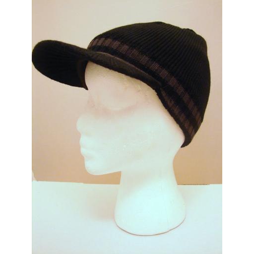 Black Acrylic Peak cap hat
