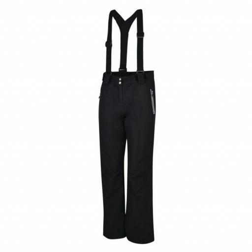 DARE2B Womens Intrigue Black Ski Pants Salopettes 22-30 REG LEG
