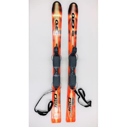 GPO 120 FUN-X SKI BLADES with GC-701 Release Bindings 120cms short skis G