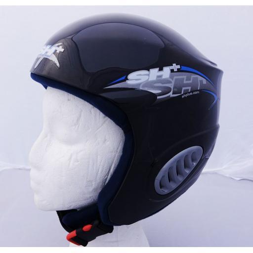 SH+ Galaxy Senior Ski Crash Helmet BLACK/BLUE S/M