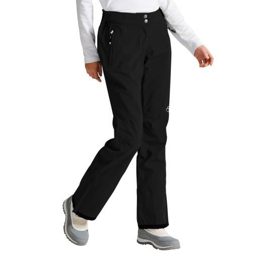 Dare2b STAND FOR II Womens BLACK Soft-Shell Ski Pants SHORT LEG