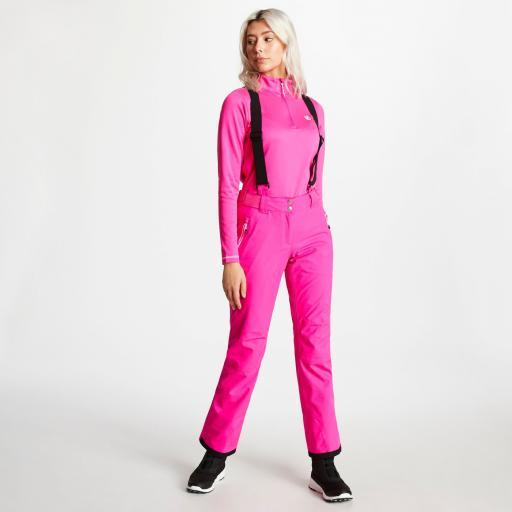 Dare2b EFFUSED Womens CYBER PINK Soft -shell Ski Pants SHORT LEG