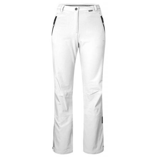 ICE PEAK WHITE Women's RIKSU Stretch Ski Pants Trousers REG LEG