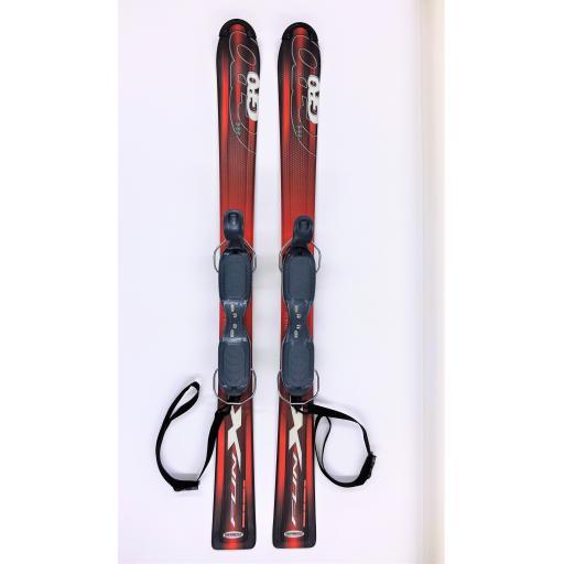 GPO 120 FUN - X SKI BLADES with GC-701 Release Bindings 120cms short skis R