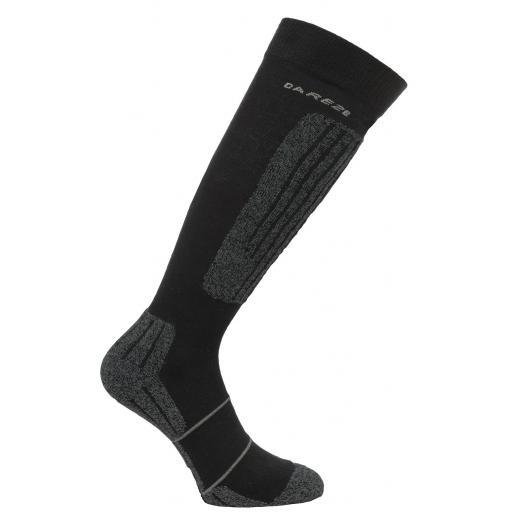 Dare2b Contoured Technical ski sock Black 6-8 and 9 - 12 UK FREEPOST UK