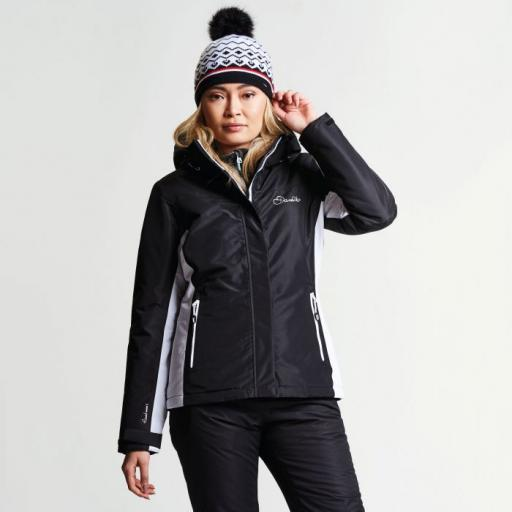 Dare2b Womens Prosperity BLACK Ski Jacket