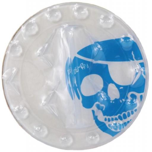 Demon Stomp pad SKULL for Snowboard (CLEAR STOMP WITH BLUE SKULL