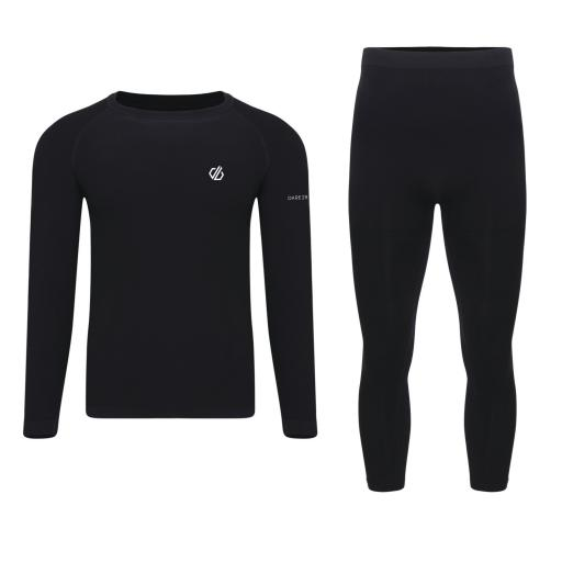 Dare2b IN THE ZONE III Black MENS Thermal Base Layer Set (TOP & BOTTOMS)
