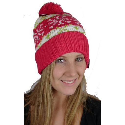 Ice Peak Bobble hat Acrylic/fleece mix Fleece